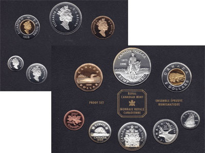 Изображение Подарочные монеты Канада Набор монет 1998 года в качестве proof 1998  Proof