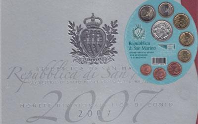 Изображение Подарочные наборы Сан-Марино Набор евромонет 2007 2007  UNC