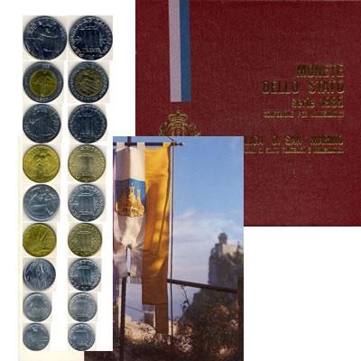 Изображение Подарочные монеты Сан-Марино Набор 1985 года 1985   Без картонного футля