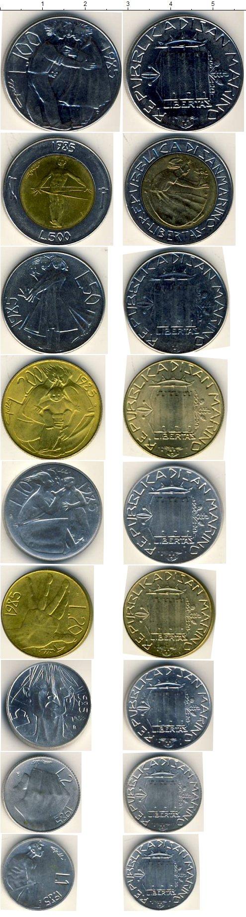 Набор монет Сан-Марино Набор 1985 года 1985 UNC фото 2