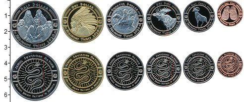 Изображение Наборы монет Резервация Хамул Индейцы Набор 2020 года 2020  UNC UNUSUAL. Индейцы Аме