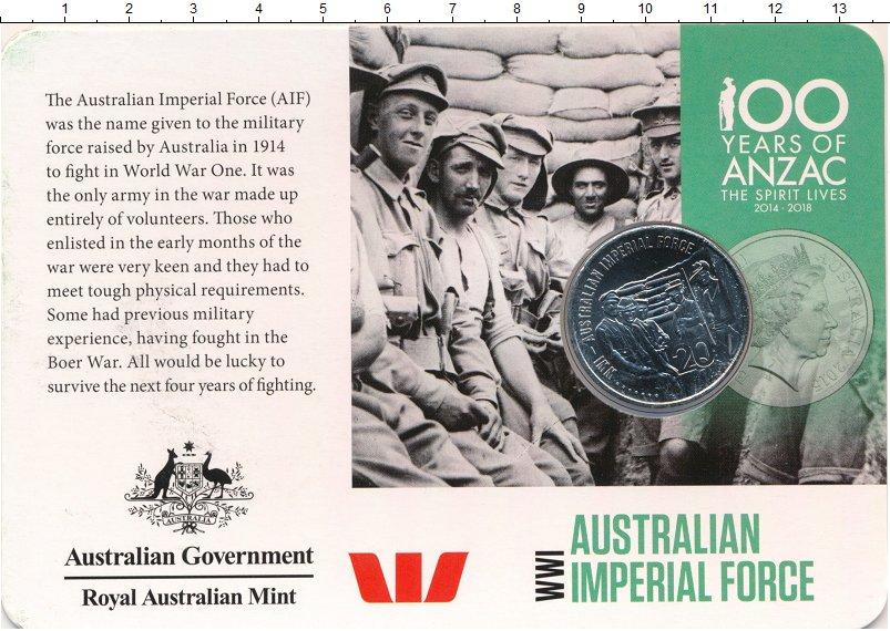 Изображение Подарочные монеты Австралия 20 центов 2015 Медно-никель UNC Австалийские имперск
