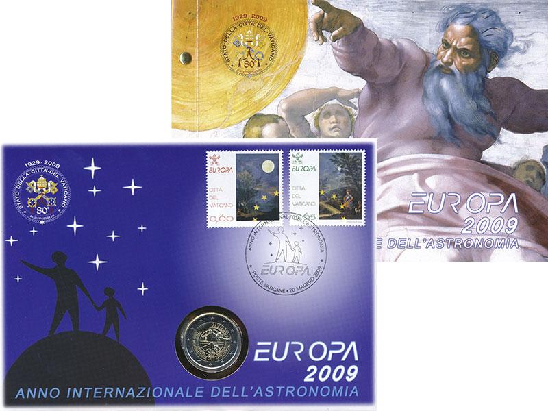 Изображение Подарочные монеты Ватикан 2 евро 2009 Биметалл UNC Международный год ас
