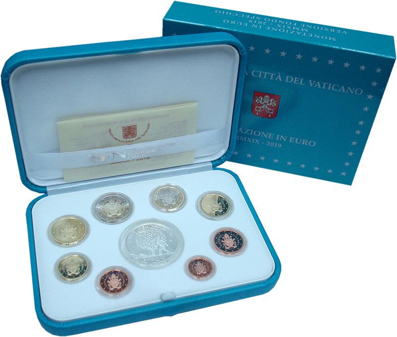 Изображение Подарочные монеты Ватикан Набор 2019 года 2019  Proof Набор из 8 монет от