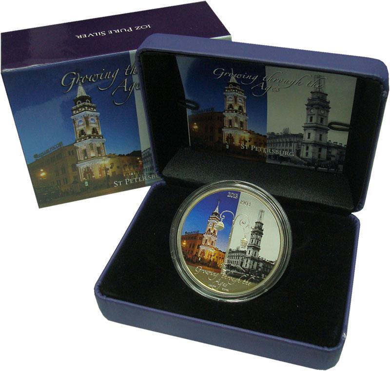 Изображение Подарочные монеты Ниуэ 2 доллара 2013 Серебро Proof Санкт-Петербург. Ори