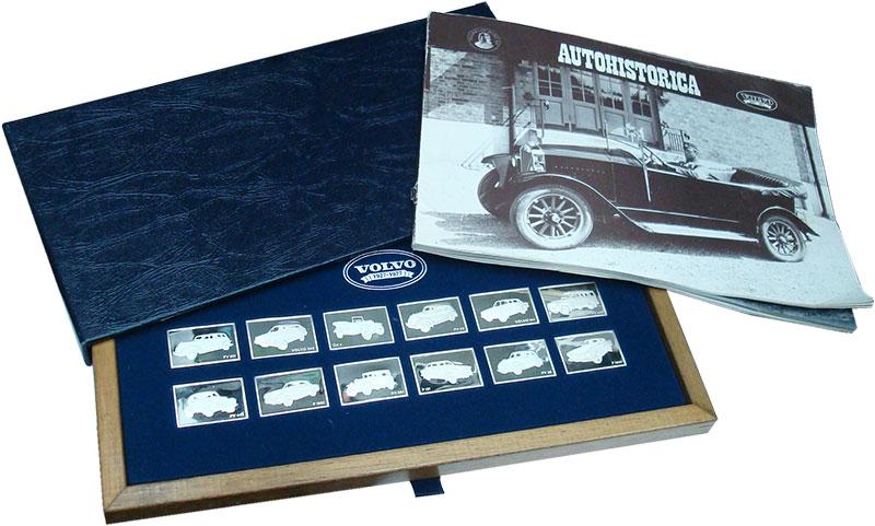 Изображение Подарочные монеты Швеция Вольво 1927-1977 1977 Серебро Proof- Набор из 12 плакет п