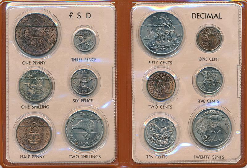 Изображение Подарочные монеты Новая Зеландия Набор монет 0  UNC Набор из 12 монет ра