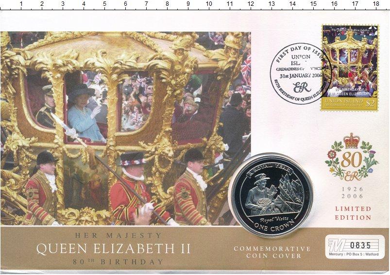 Изображение Подарочные монеты Гибралтар 1 крона 2005 Медно-никель UNC Королевский год.<br