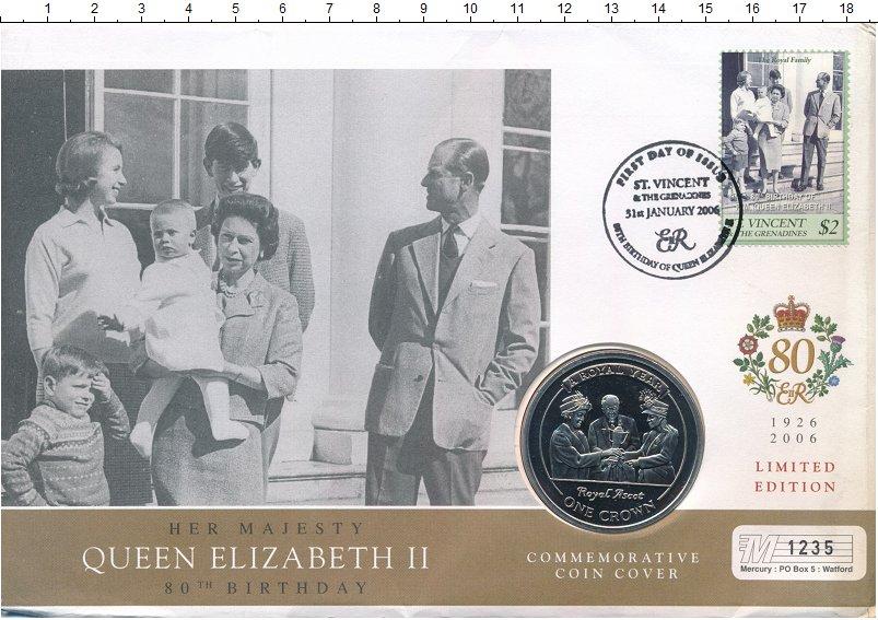 Изображение Подарочные монеты Гибралтар 1 крона 2005 Медно-никель UNC Елизавета II. Короле
