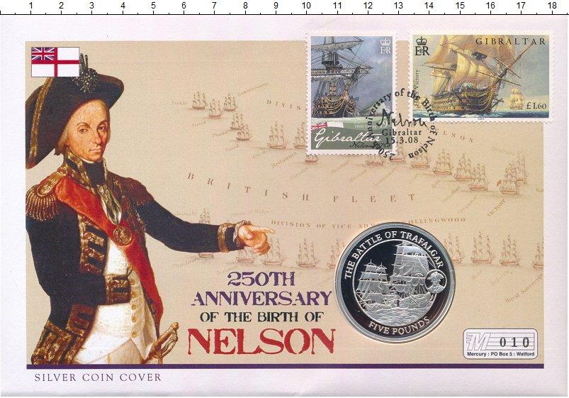 Изображение Подарочные монеты Гибралтар 5 фунтов 2008 Серебро Proof Елизавета II.  Трафа