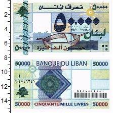 Банкнота Ливан 50000 ливров 2004 UNC