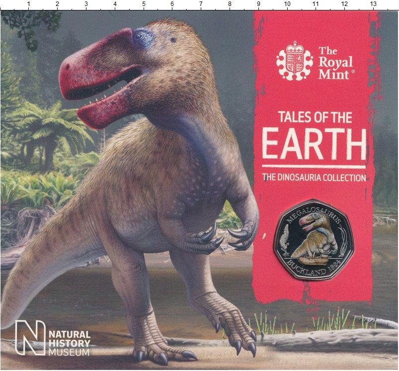 Изображение Подарочные монеты Великобритания 50 пенсов 2020 Медно-никель BUNC Динозавры Мегалозавр