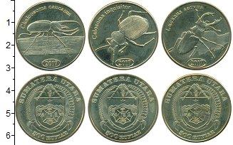 Изображение Наборы монет Индонезия 500 рупий 2017 Латунь UNC В наборе 3 монеты но