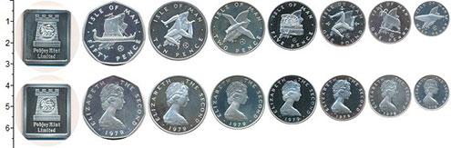 Изображение Наборы монет Остров Мэн Набор 1979 года 1979 Серебро Proof- Набор из 7 монет от