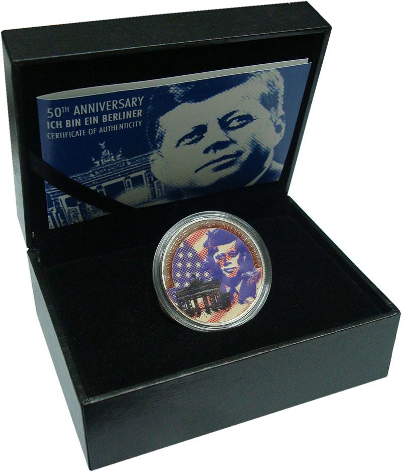 Изображение Подарочные монеты Самоа 5 долларов 2013 Серебро Proof `50 лет культовой фр
