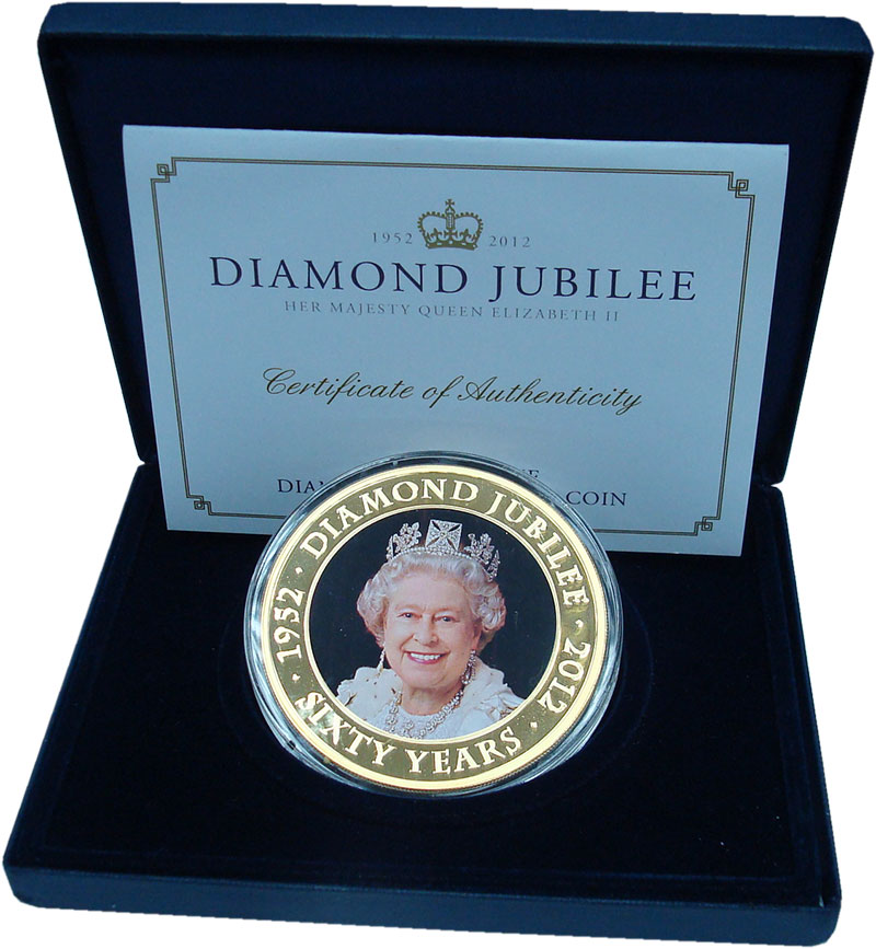 Изображение Подарочные монеты Острова Кука 5 долларов 2011 Медь Prooflike 60 лет правления Ели