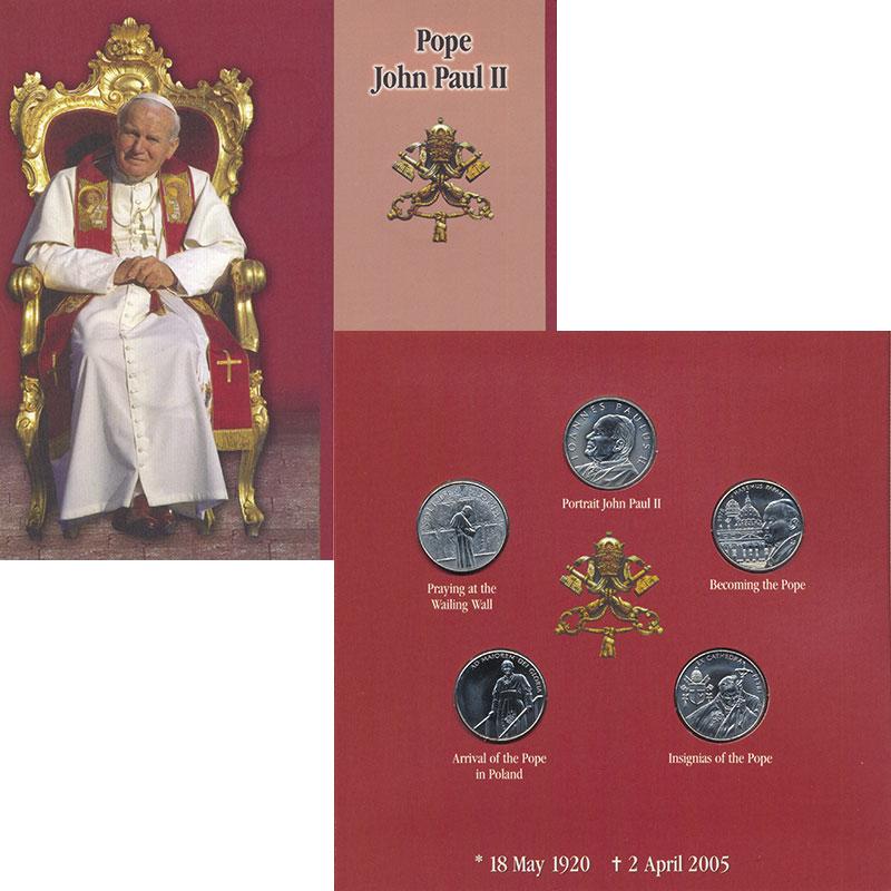 Изображение Подарочные монеты Мальтийский орден Иоанн Павел 2005 Медно-никель  Подарочный набор пос