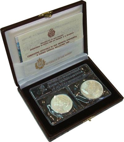 Изображение Подарочные монеты Сан-Марино Олимпийские игры 1988 года 1988 Серебро UNC- Набор посвящен олимп