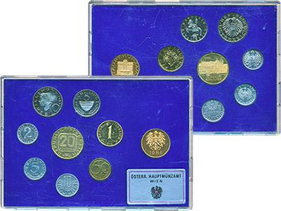 Изображение Подарочные монеты Австрия Набор монет 1984 года 1984  Proof