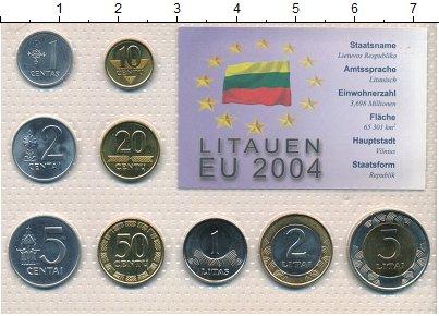Изображение Наборы монет Литва Литва 1991-2002 0  UNC В наборе 9 монет ном