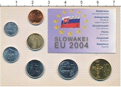 Изображение Наборы монет Словакия Словакия 1995-2002 0  UNC В наборе 7 монет ном