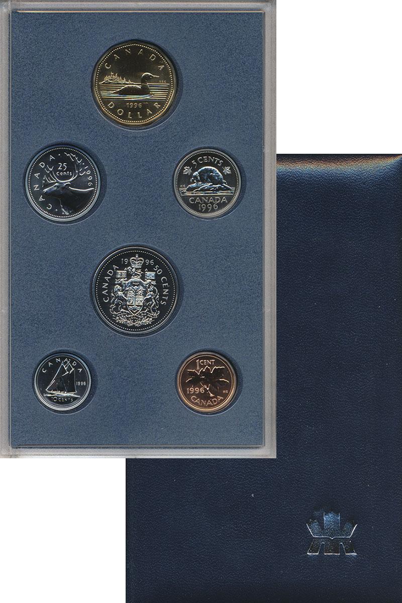 Изображение Подарочные монеты Канада Набор 1996 года 1996  UNC Набор из 6 монет от