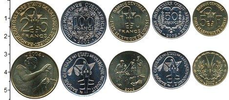 Изображение Наборы монет Западная Африка Набор монет 2002-04 гг. 2002 Медно-никель UNC В наборе 5 монет ном