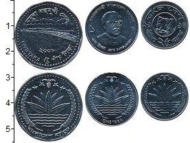 Изображение Наборы монет Бангладеш Набор из 3 монет 0 Сталь UNC В наборе 3 монеты но