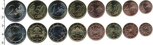 Изображение Наборы монет Австрия Австрия 2008 2008  UNC В наборе 8 монет ном
