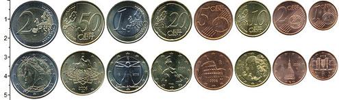 Изображение Наборы монет Италия Италия 2008 2008  UNC В наборе 8 монет ном