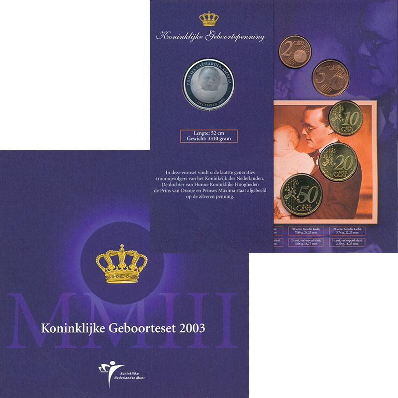 Изображение Подарочные монеты Нидерланды Евронабор 2003 года 2003  UNC В набор входят монет