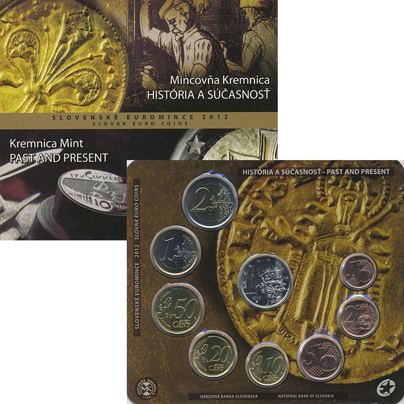 Изображение Подарочные монеты Словакия Евронабор 2012 года 2012  UNC В набор входят монет