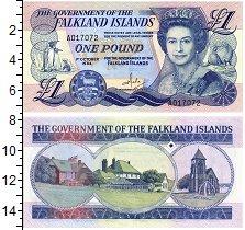 Банкнота Фолклендские острова 1 фунт 1984 Елизавета II UNC