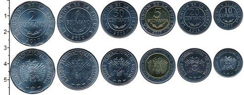 Изображение Наборы монет Боливия Боливия 2012-2017 0  UNC В наборе 6 монет ном