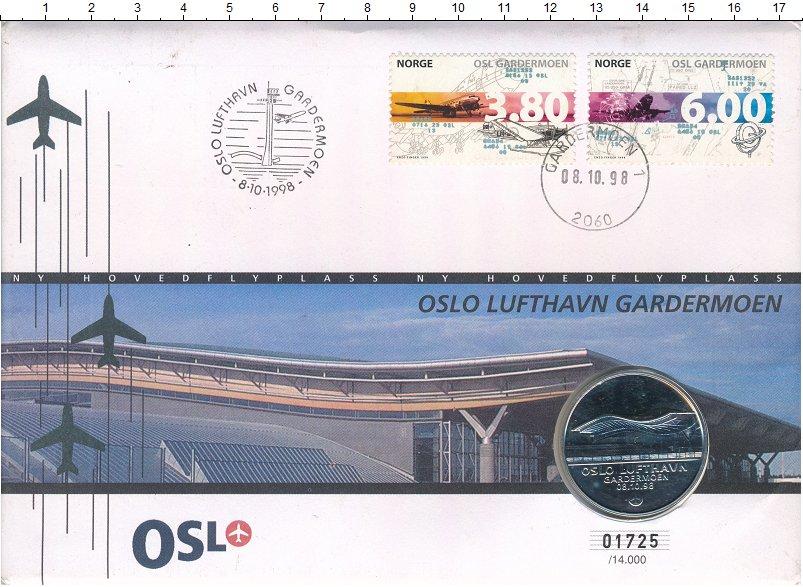 Изображение Подарочные монеты Норвегия Жетон 1998 Серебро UNC Жетон посвящён Между