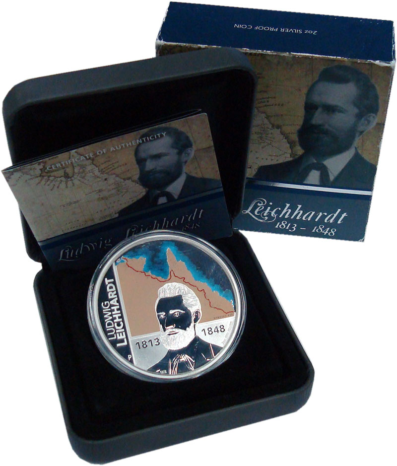 Изображение Подарочные монеты Австралия 2 доллара 2013 Серебро Proof 200 лет со дня рожде
