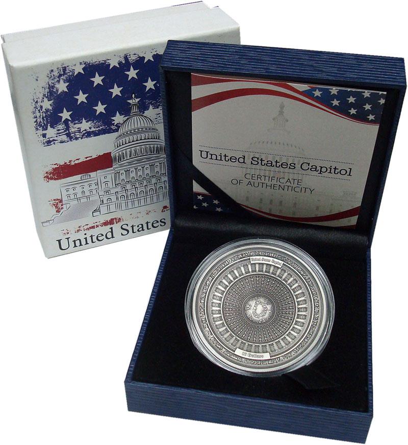 Изображение Подарочные монеты Самоа 10 долларов 2017 Серебро UNC Капитолий США. Сереб