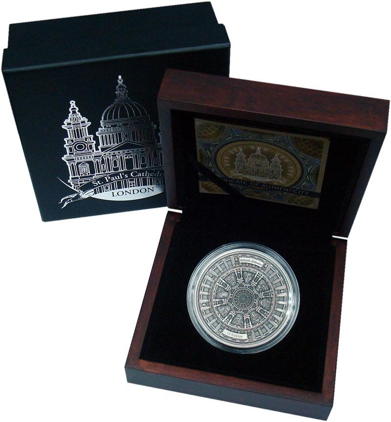 Изображение Подарочные монеты Самоа 10 долларов 2017 Серебро UNC Лондон. Собор Святог