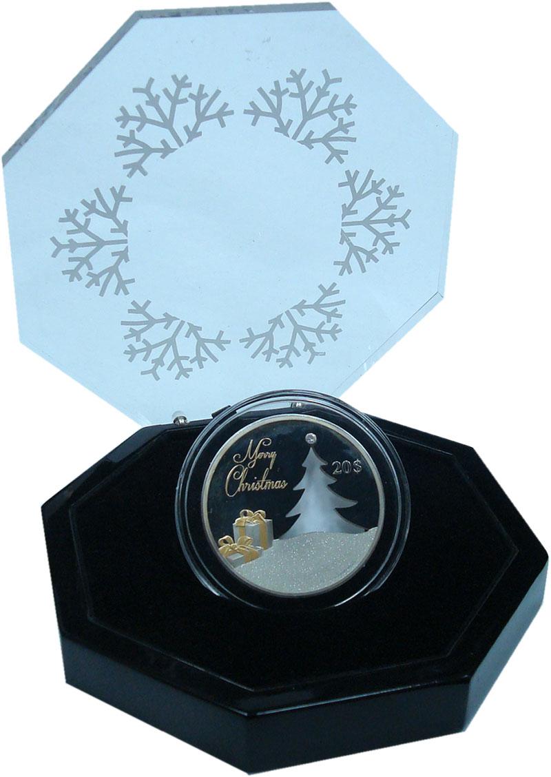 Изображение Подарочные монеты Кирибати 20 долларов 2012 Серебро Proof- Рождество ! Серебро9
