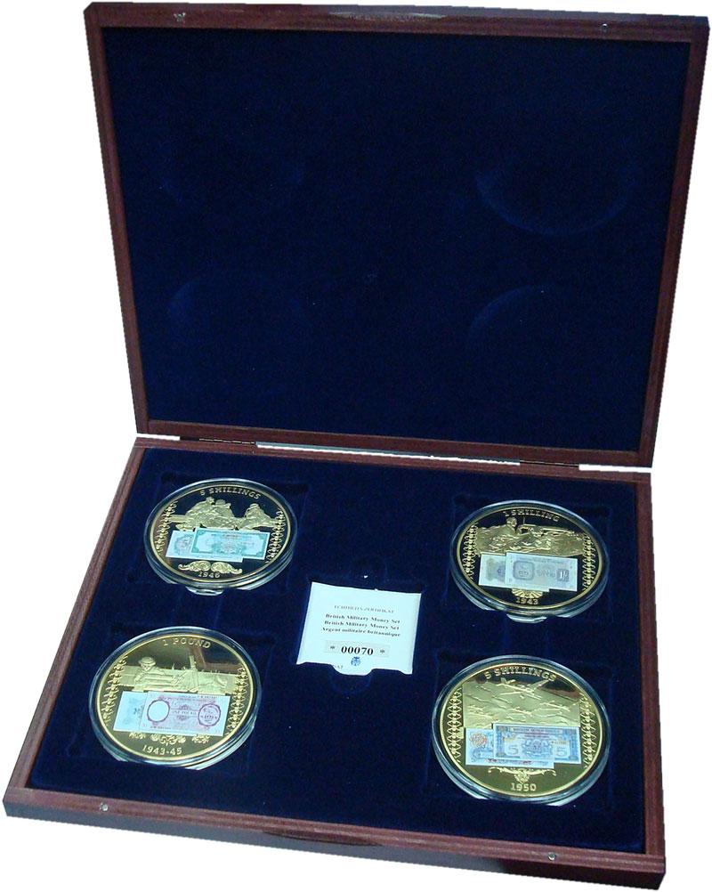 Изображение Подарочные монеты Германия Британские банкноты для армии 2014 Медь Proof Набор медалей с изоб