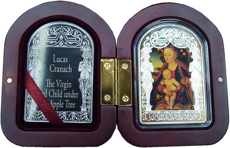 Изображение Подарочные монеты Андорра 15 динерс 2012 Серебро Proof `Лукас Кранах Старши