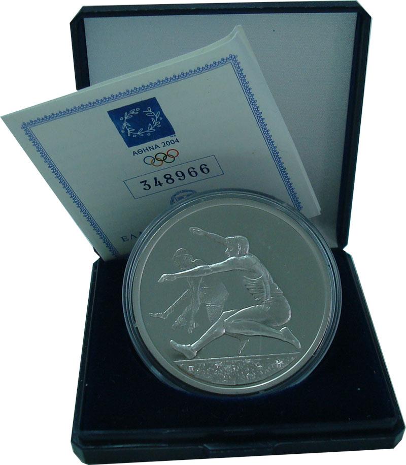 Изображение Подарочные монеты Греция 10 евро 2004 Серебро Proof Олимпийские игры в А