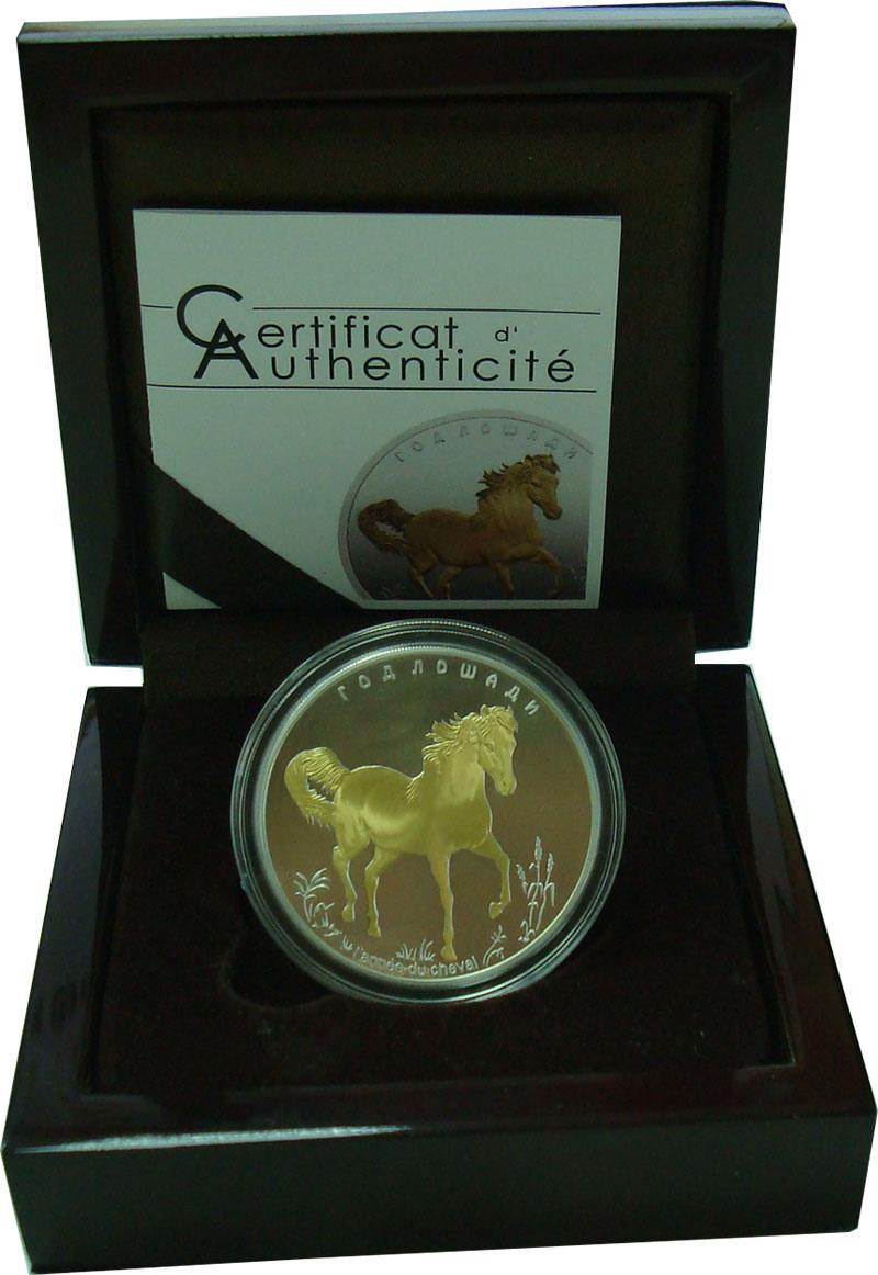 Изображение Подарочные монеты Того 1.000 франков 2014 Серебро Proof Год лошади. Серебро