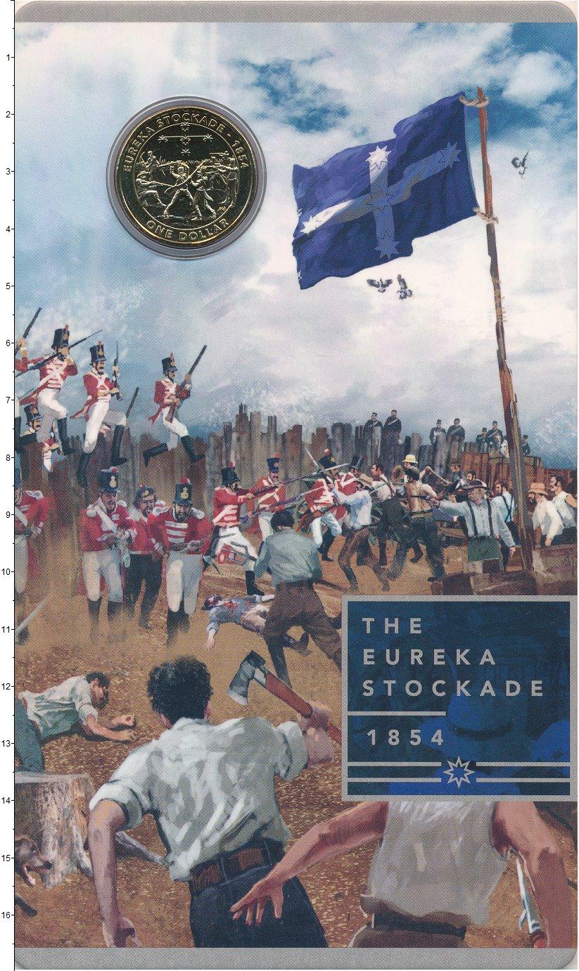 Изображение Подарочные монеты Австралия 1 доллар 2019 Латунь UNC Эврикское восстание.