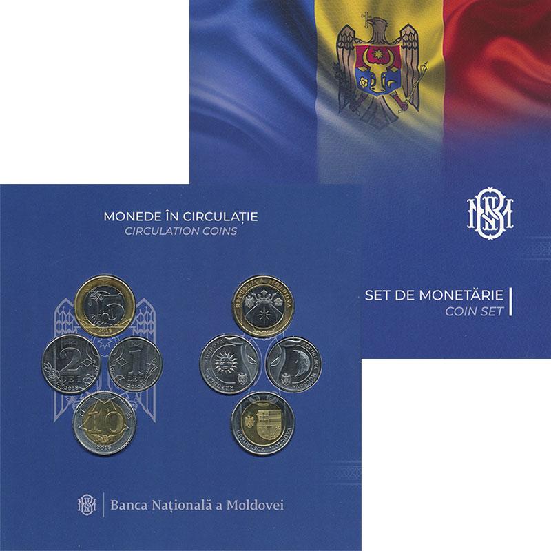 Изображение Подарочные монеты Молдавия Набор 2018 года 2018 Биметалл UNC Набор монет Молдавии