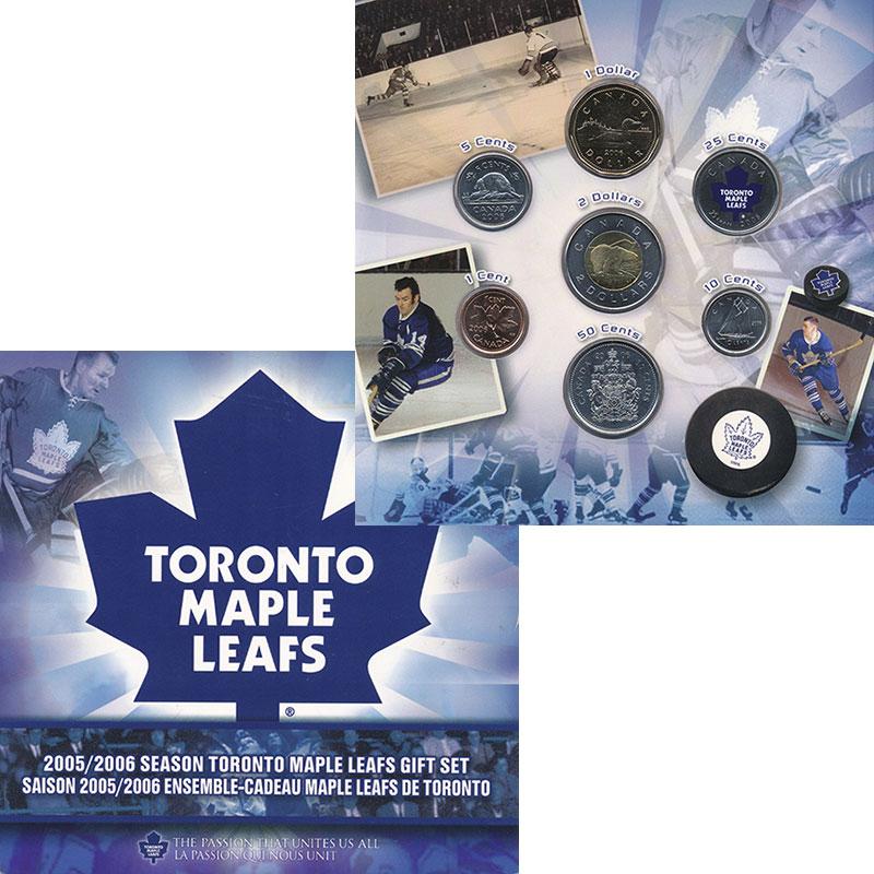 Изображение Подарочные монеты Канада Набор 2006 года. Торонто Мейпл Лифз 2006  UNC Набор монет Канады 2