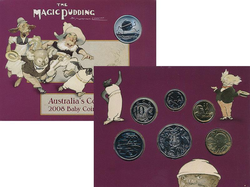 Изображение Подарочные монеты Австралия Набор 2008 года 2008  UNC Набор монет Австрали