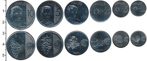 Изображение Наборы монет Филиппины 50 злотых 2018 Медно-никель UNC В наборе 6 монет ном