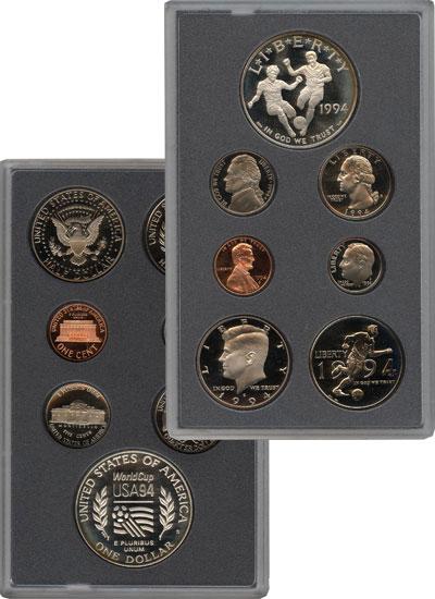 Изображение Подарочные монеты США Чемпионат мира по футболу 1994 1994  Proof Набор посвящен, прох