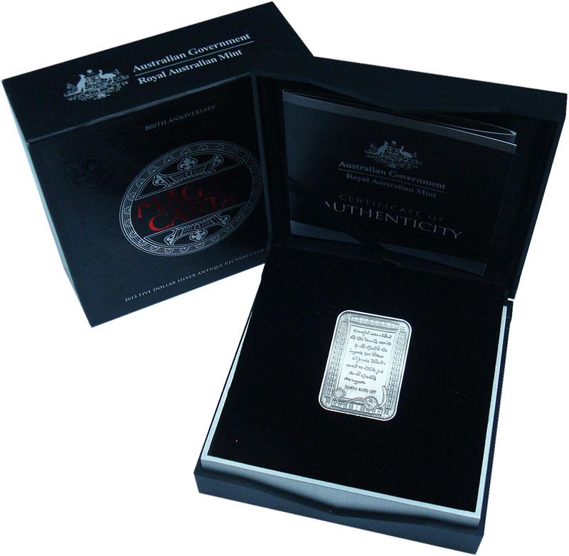 Изображение Подарочные монеты Австралия 5 долларов 2015 Серебро UNC 800 лет Харти вольно